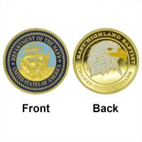 Quality U.S. Department Of the Navy Coin 24k Gold Plated Coin American Military Challenge Coin Wholesale Coin collection for sale