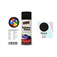 Quality Head Light Black Color Rubber Coat Spray Paint For Wheel Brushing APK-8201-24 for sale
