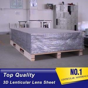 Quality 25lpi 4MM lenticular board for making large size 3D Effect lenticular Printing poster by injekt printer or digital print for sale