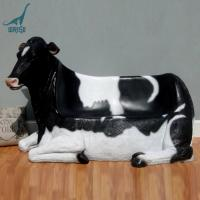Quality Fiberglass animal cow chair for outdoor decoration for sale