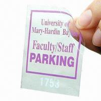 Quality Removable Static Cling Sticker with PE/PVC/PP Materials, Customized Specifications are Accepted for sale