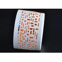 Buy White Ceramic Candlesticks , Short Pottery Candle Holders For Table at wholesale prices