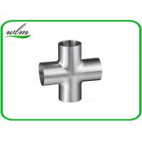 Quality Butt Weld Straight Cross Fittings Stainless Steel Hygienic Fittings 15 Bar Pressure for sale