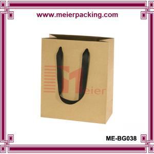 Quality Kraft paper shopping bag/clothing kraft bag with ribbon handle/hot sale paper kraft bag ME-BG038 for sale