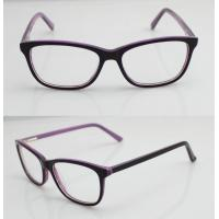 Quality Purple & Black Vintage Oval Women Acetate Glasses Frames With Lightweight for sale