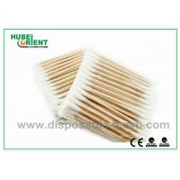 Quality Single / Double Head Hospital Disposable Products Surgical Wooden Cotton Swabs 3 for sale