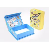 Quality Pretty Cardboard Shirt Boxes , Magnetic Flip Top Box With Flocking Plastic Blister for sale