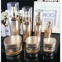 Quality empty 15ml 30m 50ml l 100ml plastic  cosmetic bottle  with electroplated silver cap for sale