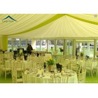 Quality Family Party Pagoda Tents Glass Wall With Beautiful Linings / Curtains for sale
