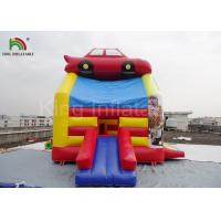Quality PVC Fireproof Commercial Inflatable Bouncers For Kids Jumping Car Houses for sale