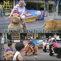 Quality Hansel Guangzhou popular entertainment rides toy riding plush animal for sale