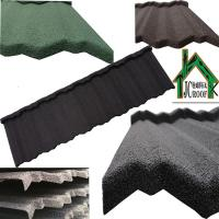 Quality Economical light weight Colorful Stone Coated Metal Roofing Tiles Ripple Model 1340*420mm for sale