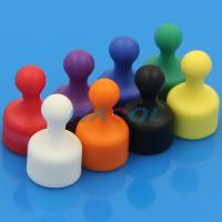 Buy cheap Neodymium colorful office plastic coated magnet push pin from wholesalers