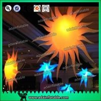 Quality 2M 210T Polyester Cloth Customized Infatable Sun With LED Light for sale