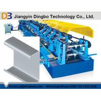 China Galvanized Sheet Metal Roller Purlin Rolling Machine With Chain Or Gear Box Driven System on sale