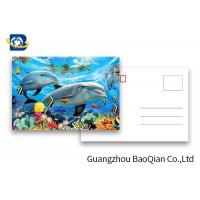 Quality Durable Dolphin 3D Lenticular Postcards CMYK UV Offset Printing Cartoon Design for sale
