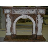 Quality White Marble Fireplace, Delicate High Polished White Marble Fireplace for sale