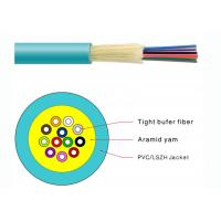 Quality Durable Tight Buffer Distribution Fiber Optic Cable Flame Retardant PVC Jacketed for sale