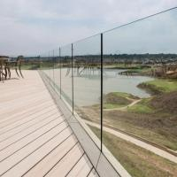 Quality Exterior Frameless Glass Deck Railing with Aluminum U Channel Profile / U Channel Glass Balustrade for sale