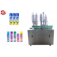 Quality Spray Can Aerosol Filling Machine , Pneumatic Drive Filling And Capping Machines for sale