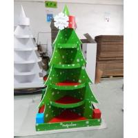 Quality Christmas Tree Cardboard Floor Display stand full color printing,cardboard retail display for store fixsture for sale
