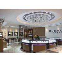 Quality Commercial Display Cases / Jewellery Showroom Furniture Decorated With LED Lights for sale
