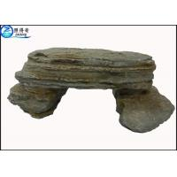 Quality Simulation Stone Bench Handmade Non-toxic Resin Ornaments Home Aquarium Accessories for sale