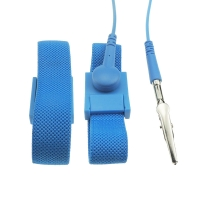 Quality PA6 Plastic Buckle 4MM Snap Conductive Fiber ESD Wrist Strap for sale