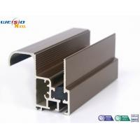 Quality Aluminum Construction Profiles Sliding Windows With Coffee Powder Coated / Double Glazed for sale