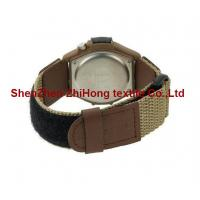 Quality Guaranteed quality nylon webbing/PU leather nylon hook loop watch wrist band for sale