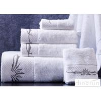 China Super Soft 32s Woven White Hand Towels Set OEM / ODM Available on sale