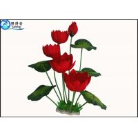 Quality Colorful Flower Plastic Simulation Artificial Plants For Aquarium Tank Decoration for sale