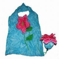 Quality shopping bag, new arrival flower-shaped polyester shopping bag, eco-friendly, OEM orders are welcome for sale