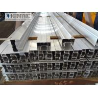 Quality Projected  Aluminium Window Profiles Anodized Silver and Powder Coating Bronze for sale