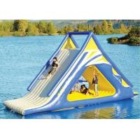 Quality giant kids N adults inflatable floating slide for outdoor water game use in the lake for sale