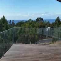 Quality stainless steel spigots Tempered glass balustrades for balcony for sale