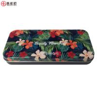 Quality OEM rectangular cosmetic brush metal box for makeup tin can or student pencil tin boxes for sale