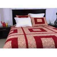 Quality Polyester / Cotton Bedspread And Coverlets Machine Quilting With Different Size for sale