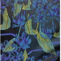Quality Residential Fabric Silky Jacquard Yarn-dyed Leaves H/R 21.0cm 500T/100% P/180gsm for sale