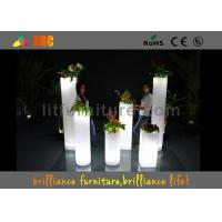China Home Depot LED Plant Pots , Illuminated Garden Pots Wireless Remote Control on sale