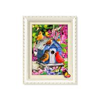 Quality 30x40cm 5D Pictures With Plastic White Frame For Office Decoration for sale