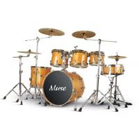 Quality Muse / Blank Lacquered Wooden 6 Piece Yellow Adult Drum Set Pro - level for sale