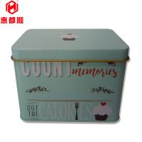 Quality Custom Rectangular Metal Storage Jar Tin Box With Lid,storage tin box with clothes,gift tin can,CMYK tin packaging for sale