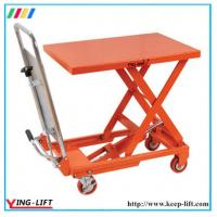 Quality Heavy Duty Pedal Operated Hydraulic Scissor Lift Tables YLF100 for sale