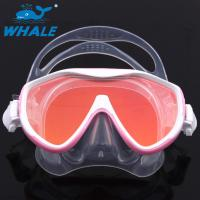 Quality Scuba Adjustable Scratch resistant Diving Mask Silicone Skirt Tempered Glass Lenses for sale