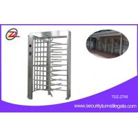 Quality RFID Flexible Full Height Turnstile Gate Single Door 304 Stainless Steel Access Control System for sale