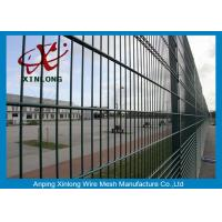 Quality Powder Coated Twin / Double Wire Fence 200*50mm For Country Border for sale