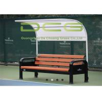 Quality Durable Outdoor Sports Facilities Tennis Courtside Aluminum Resting Bench for sale