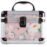Quality Beautiful Plastic Cosmetic Box With Aluminum Frame / Arcylic Jewelry Box With Printting for sale