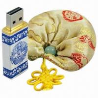 Quality Luxurious China Ceramic Encrypted USB Memory Stick Flash Drive with 256MB to 32GB Capacities for sale